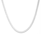 46cm/18inch Trace Chain 1mm Gauge - Genuine 925 Sterling Silver