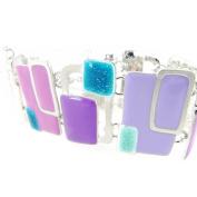 "Designer bracelet ""Coloriage""lilac turquoise."