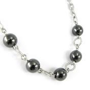 "Necklace steel ""Chorégraphie""."