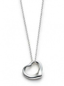 FST:TI-5:Stunning 925 Sterling silver plated Open Heart Pendent ,T Designer Style Open Heart drop Fashion Necklace,Pendent. Excellent quality, fast delivery 46cm Long silver plated Neck chain included ,By frost© London