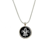 Fleur De Lis Pendant with Sterling Silver Plated Chain