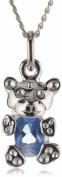 MiChic Jewellery Children's Birthstone Teddy Bear Sterling Silver Pendant with 14/40 cm Chain