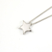 925 Sterling Silver Dainty Wish Star Necklace - Genuine 925 Silver stamped