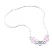 Daughter Charm Necklace Women's Pandora Style Gift Boxed