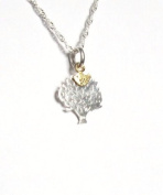 Midor925 925 Sterling Silver *Bird in Tree* Pendant Necklace Md00188N In Gift Box