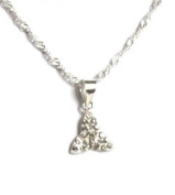Midor925 925 Sterling Silver & CZ Crystal *Trinity knot*Pendant Necklace Md00191N In Gift Box