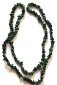 Reiki Jewels Ruby in Zoisite Chipped Beaded Long Necklace