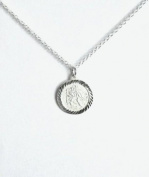 Midor925 925 Sterling Silver St Christopher Pendant Necklace Md0025N In Gift Box
