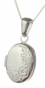 Classical 925 Sterling Silver Ladies Locket - 23mm*12mm