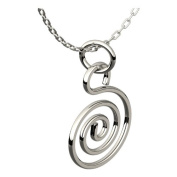 Sterling Silver Plated Celtic Spiral Pendant Necklace, 46cm Silver Chain