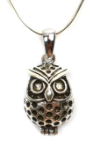 925 Sterling Silver Vintage Owl Necklace, 41cm Silver Chain, Silver Owl - Fortune Silver Jewellery