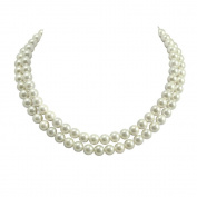 Regal Two Strand White Shell Pearl Necklace
