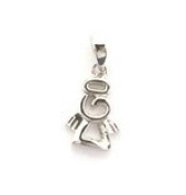 Sterling Silver Angel Pendant on an 46cm Silver Chain - Matching Earrings Available