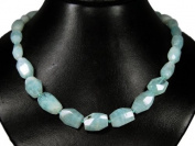 * Amazing necklace made of Aquamarine * Very beautiful gemstones * Top * Light blue coloured * Lovely chain * Fantastic semiprecious stones * Charming * New *