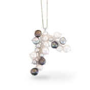 Lustrous-Multicolour Baroque Pearls Sterling Silver Necklace