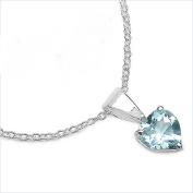 Jewellery-Schmidt-Blue Topaz Heart Necklace 925 Sterling-silver-0, 92 carats