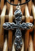 Hand Made Pendant with Antique Silver Finish Cross -