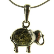 Baltic amber and sterling silver 925 designer elephant animal pendant jewellery jewellery