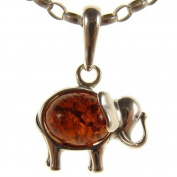Baltic amber and sterling silver 925 designer cognac elephant pendant jewellery jewellery