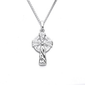 Silver Small Celtic Cross Pendant with 46cm Chain