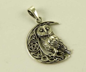 Pendant Silver Owl On Moon By Lisa Parker H3.2cm