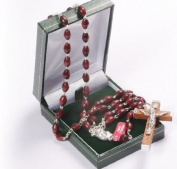 Strong Brown Wood Rosary Bead. Extra Strong Rosary. Gentleman's Rosary.