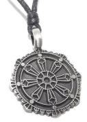 Elegant Buddhist Wheel (Dharma Chakra) Pendant / Necklace