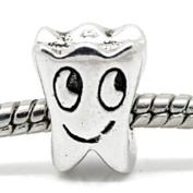 fb21bd339 ... Charm Buddy Cute Silver Plated Tooth Tooth Fairy Charm Bead Fits Pandora  Troll Charm Bracelets Necklaces ...