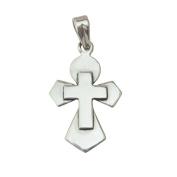 Handmade Simple Yet Elegant Cross Pendant in 925 Sterling Silver