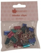Woodware Craft Collection Binder Clips, 24 pieces 24 X 15MM