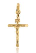 9ct Yellow Gold Crucifix Pendant of 2.7cm