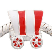 Charming Bead Store Cute Gypsy Caravan Charm In Black And Red Enamel For Charm Bracelets