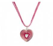 Magnum Pink Enamel Heart Pendant 8