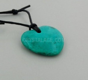 Gemini Birthstone Necklace - Chrysocolla Howlite Heart