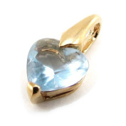 "Pendant plated gold ""Coeur Pur"" turquoise."
