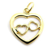 "Pendant plated gold ""Love""."