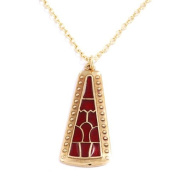 Celtic Staffordshire Hoard Pyramid bronze & enamel pendant on GP chain by St Justin BZP71