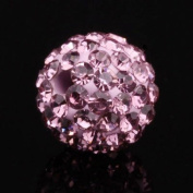 DUMAN 20pcs 10mm Disco Ball Rhinestone CZ Crystal Amethyst Charms Shamballa Inspired Loose Beads