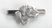 Labrador's Head Tie Clip (slide) in Fine English Pewter, Gift Boxed