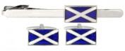 Scottish Flag Tie Clip and Cufflink Set