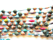 Katangi Handcrafts Recycled Paper Beads - Multi coloured B