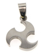 Stainless steel pendant, diameter approx. 17mm with big bail