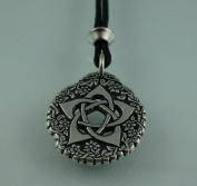 Handmade Tudor Rose Pentacle of the Goddess Pewter Pendant ~ Symbol of Protection