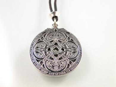 Handmade Celtic Knot Rune Dragon Shield Pewter Pendant ~ Protection