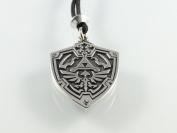 Handmade Zelda Hylian Shield Pewter Pendant