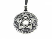 Extra Large Handmade Tudor Rose Pentacle of the Goddess Detailed Pewter Pendant ~ Symbol of Protection
