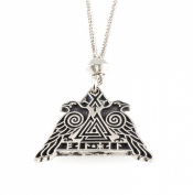 Handmade Viking Rune Valhalla Valknut Pewter Chain Pendant ~ Warrior Protection