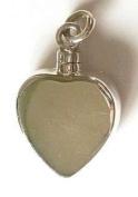 StonesandSilver, Heart Shape, Flat sided, Screw Top, Ashes/Keepsake Locket