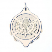 Talisman Chrome Plated Sos Talisman Pendant - Scots Thistle-55cm-Silver