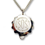 Polished Stainless Steel SOS Talisman Pendant